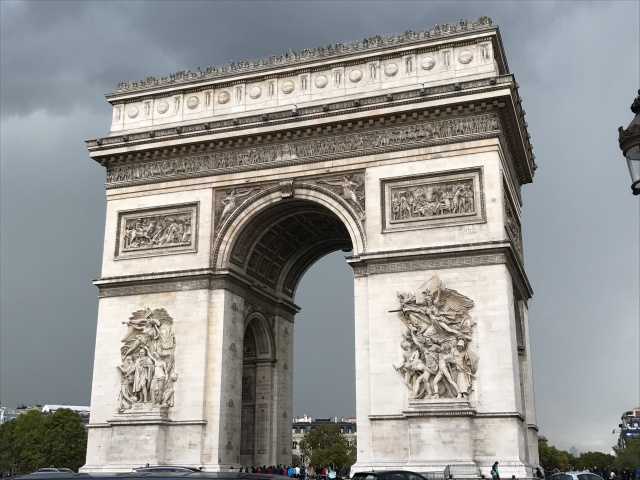 The Arch de Triomphe in Paris, France