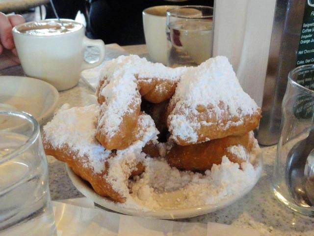 Beignets at Cafe du Monde in New Orleans, LA