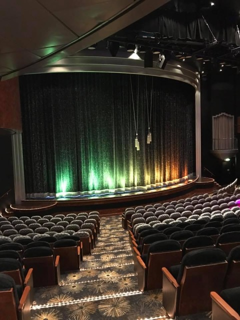 The Theater on the NCL Dawn Cruise Ship.