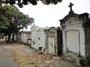 Inside Lafayette Cemetery Number 1 in New Orleans, LA