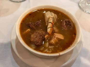 A picture of the gumbo at Dooky Chase Restaurant in New Orleans, LA