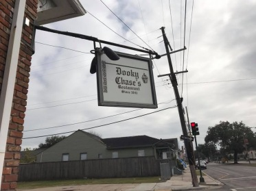 The sign for Dooky Chase restaurant in New Orleans, LA