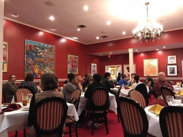 Inside Dooky Chase restaurant in New Orleans, LA