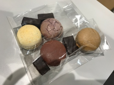 Chocolate and macaron in Paris, France
