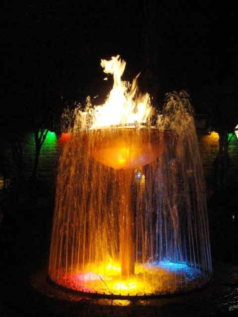 A fountain at Pat O'Brien's in New Orleans, LA
