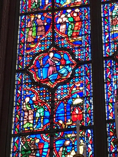 Stained glass at Sainte-Chapelle in Paris, France