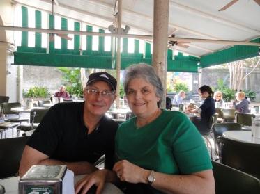 Kathleen's parents enjoying Cafe du Monde in New Orleans, LA