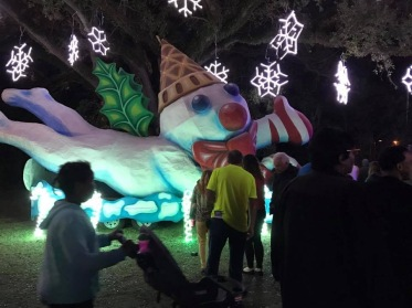 A picture of Mr. Bingle at the Celebration in the Oaks in New Orleans, LA