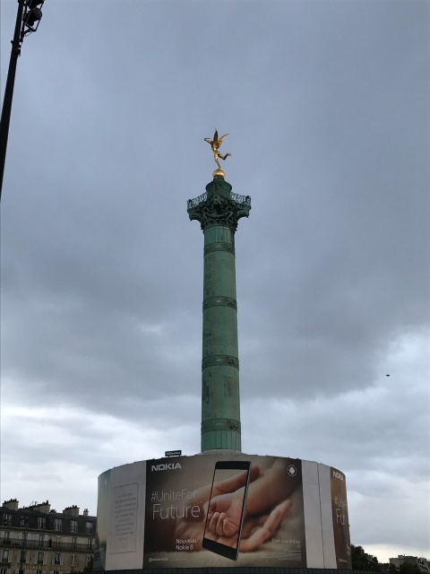 The monument at the Place de la Bastille in Paris, France
