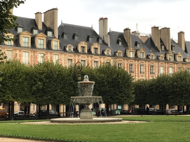 The Place des Vosges in Paris, France