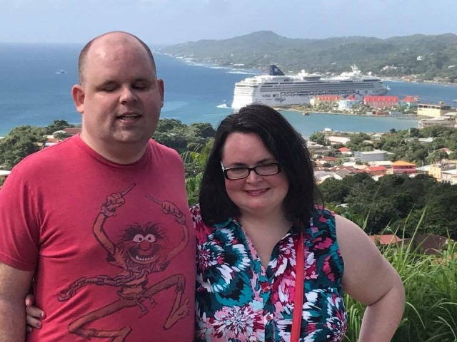 A picture of us in Roatan.