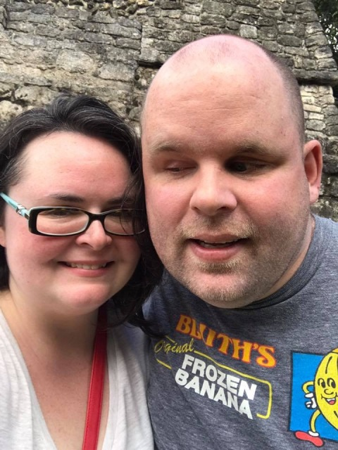 A picture of us at Mayan Ruins in Costa Maya
