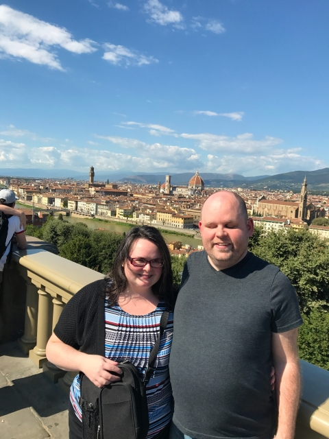 Kathleen and Paul in Tuscany