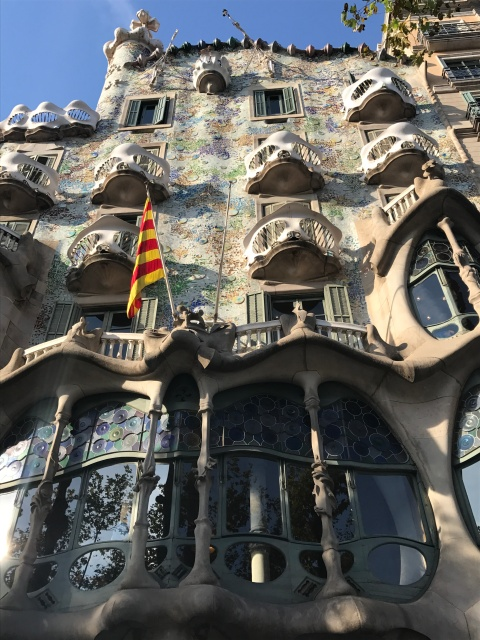 A view of Casa Batllo in Barcelona, Spain