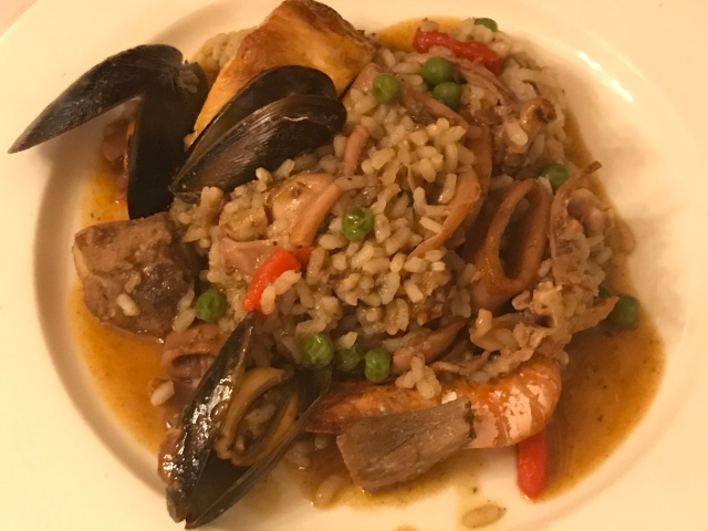 Paella at Can Culleretes in Barcelona, Spain