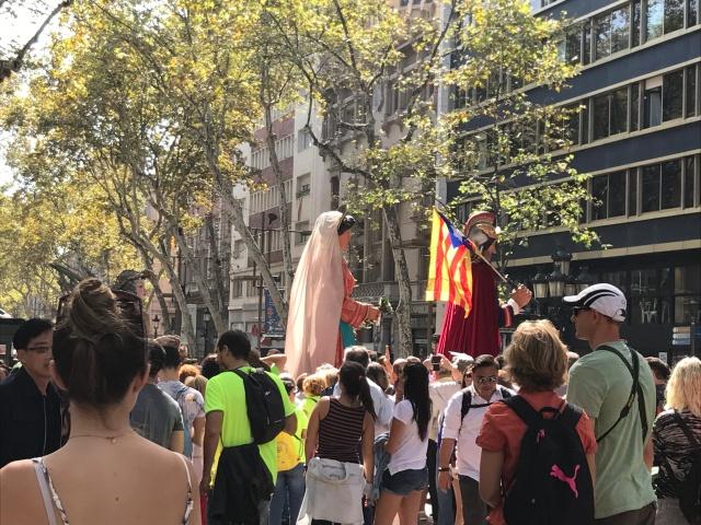 A view of the La Merce Festival in Barcelona, Spain