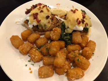 Oysters Rockefeller Eggs Benedict at Bay Local Eatery in Virginia Beach, VA