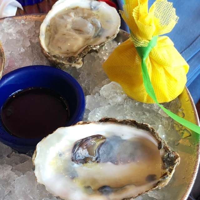 Raw oysters at Catch 31 in Virginia Beach, VA