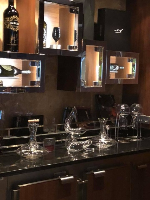 A view of the Cellars Wine Bar on the Norwegian Escape cruise ship
