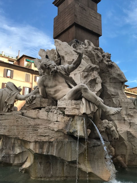 The fountain in the Piazza Navona in Rome, Italy