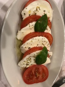A caprese salad at Hostaria Romana in Rome, Italy