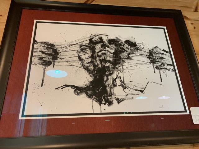 Art inside Callie Opie's Restaurant at Lake Anna
