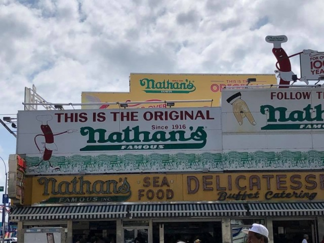 A picture of Nathan's Famous at Coney Island
