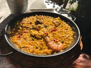 Paella enjoyed in Valldemossa, Palma de Mallorca, Spain