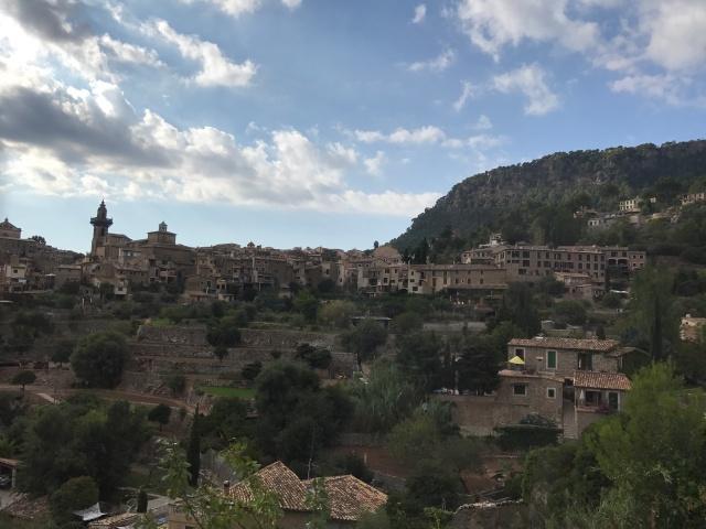 A view of the landscape around Valldemossa in Palma de Mallorca, Spain