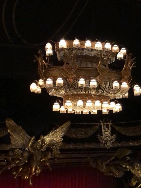 The chandelier from the Phantom of the Opera in New York City