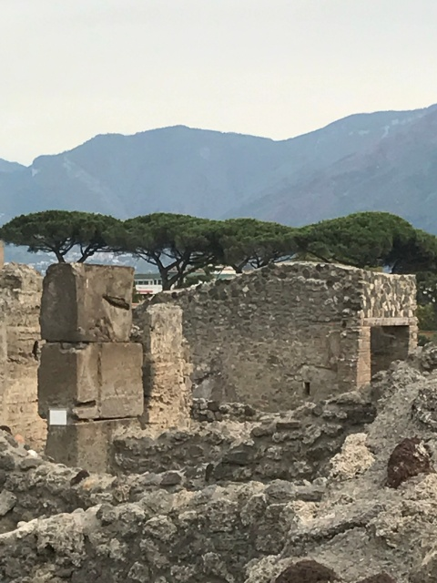 A view of the ruins of Pompeii in Italy