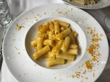 Bottarga pasta in Rome, Italy
