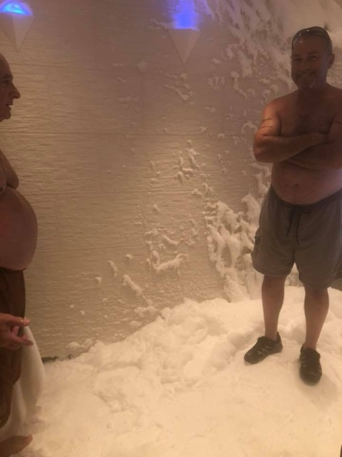 The snow room on the Norwegian Escape cruise ship