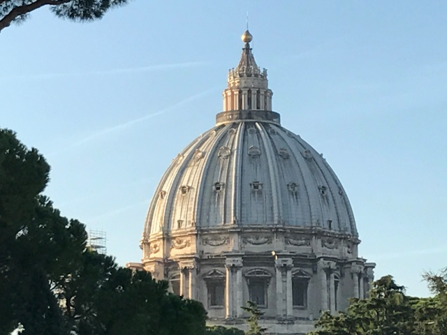 The dome of St. Peters Cathedral in Rome, Italy