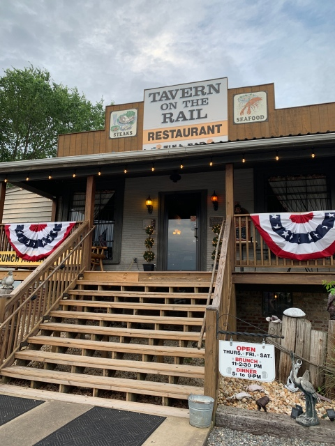 The outside of Tavern on the Rail at Lake Anna, VA