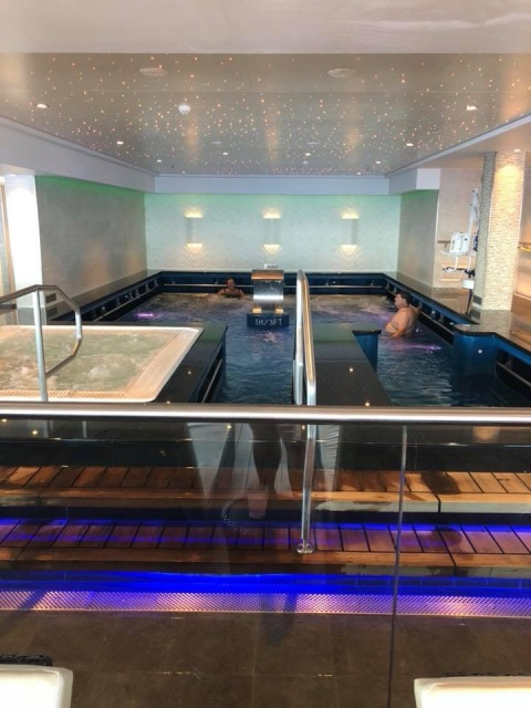The thalassotherapy pool on the Norwegian Escape cruise ship
