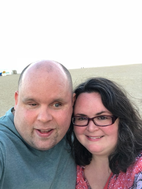 A picture of us on the beach at Virginia Beach, VA