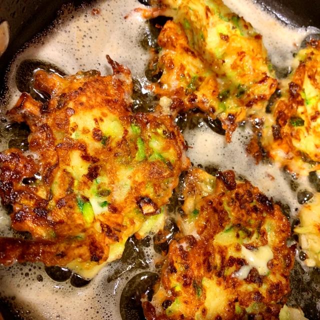 Fried zucchini patties