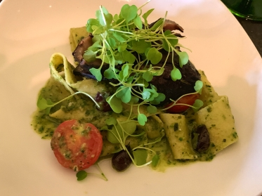 Octopus and pesto pasta at Acacia Midtown in Richmond, Virginia