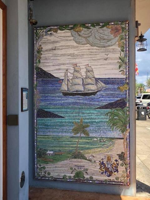A mosaic in Hamilton, Bermuda