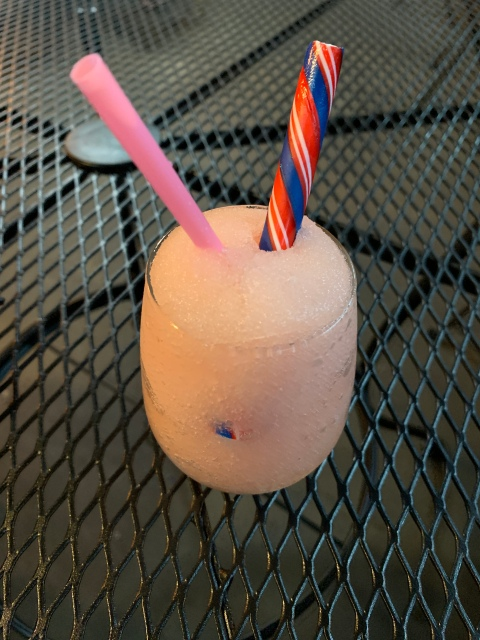 Frozen cider slushy from Blue Bee Cider in Richmond, Virginia