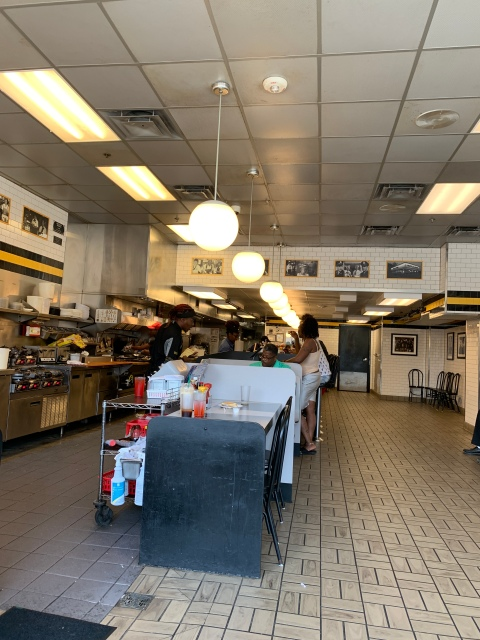 The inside of a Waffle House in Richmond, Virginia