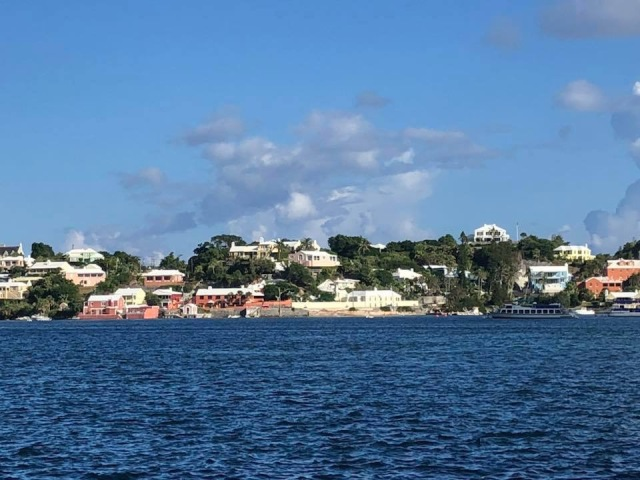 View of Bermuda from the ferry to Hamilton
