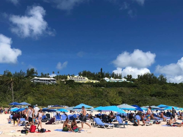 A view of Horseshoe Bay Beach in Bermuda