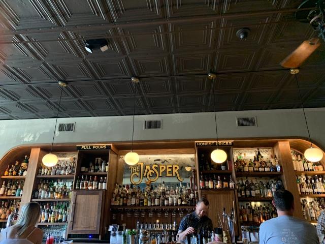 The bar at the Jasper in Richmond, Virginia