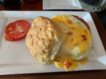 Breakfast biscuit sandwich at Lunch.Supper! in Richmond, Virginia