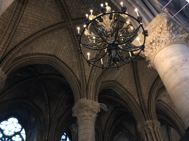 Inside Notre Dame in Paris, France