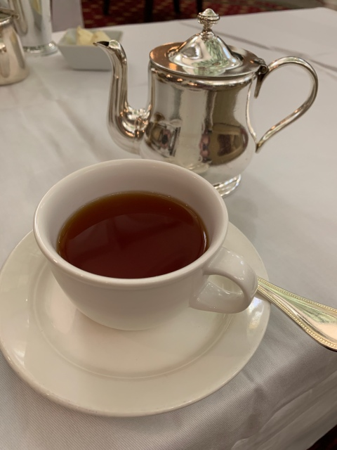 Tea in the lobby of the Jefferson Hotel in Richmond, Virginia