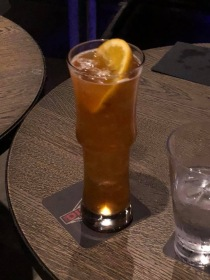 The Retribution drink at the District on the Norwegian Escape cruise ship