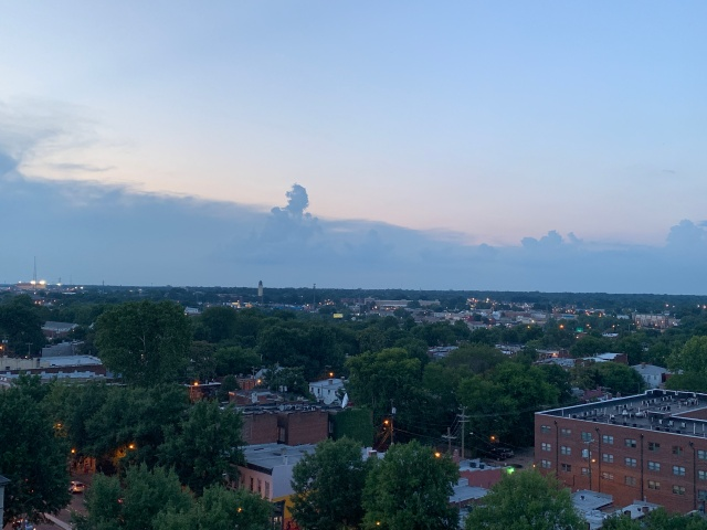 A view of Richmond, Virginia at dusk